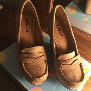 Soda wedge loafers